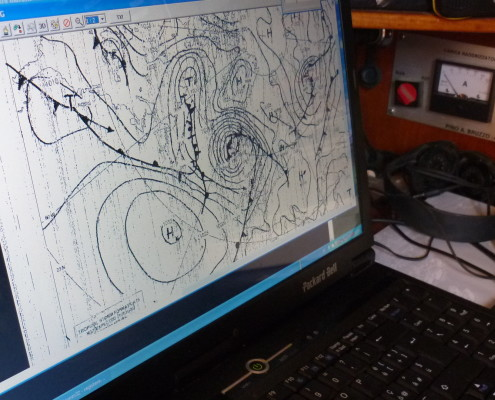 traversata atlantica in barca a vela collegamento radio carte meteo