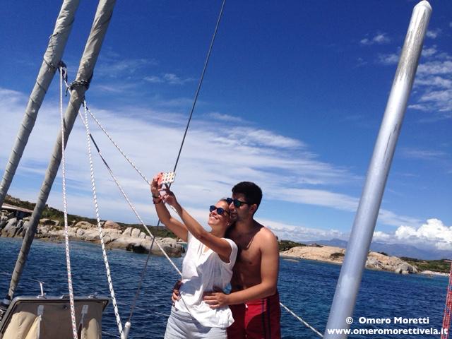 selfie in barca a vela