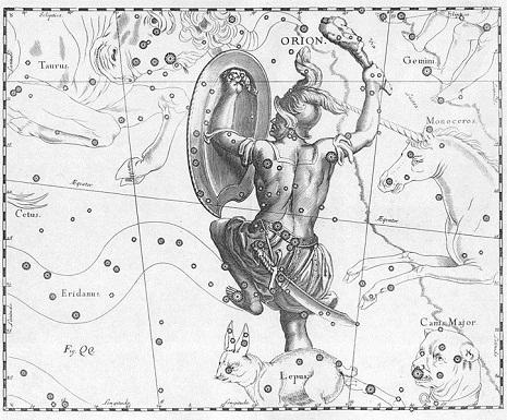 La costellazione di Orione: un cacciatore nel cielo