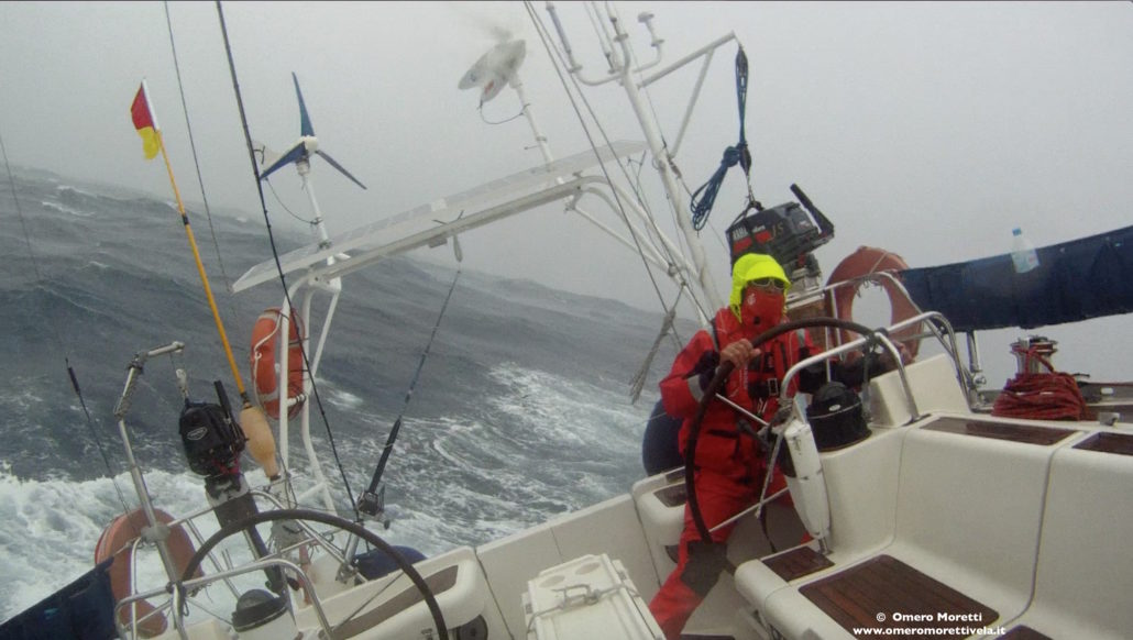 preparazione per la traversata atlantica vento e mare contro