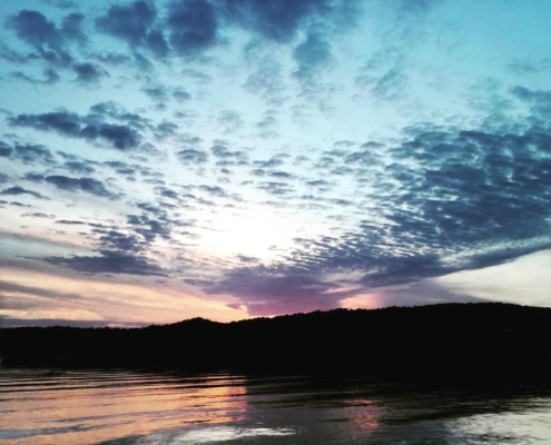partenza toscana sardegna tramonto a porto liscia