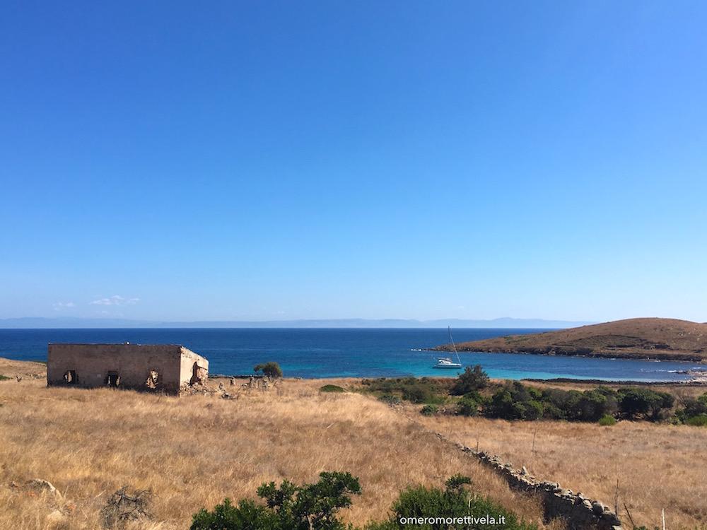 itinerario a vela da Palau ad Alghero cala trabuccato