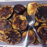 cucinare in barca a vela melanzane grigliate