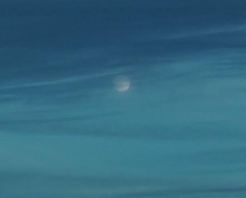 Traversata atlantica - Luna in oceano