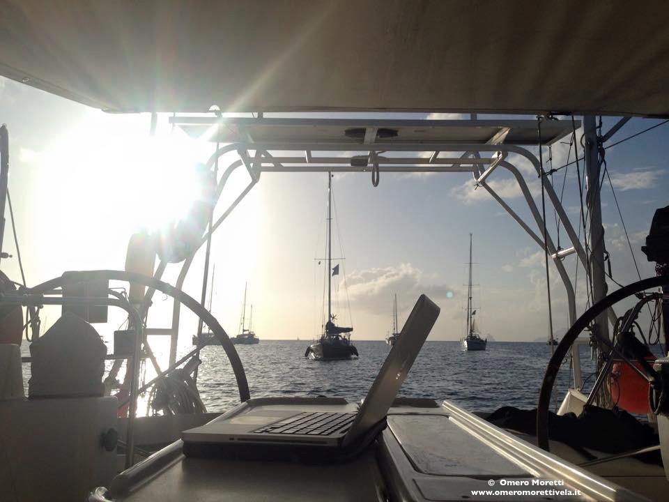 lavorare in barca a vela