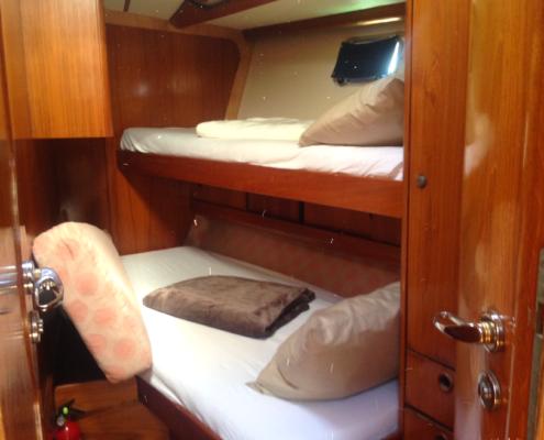 interni barca a vela cabina di prua