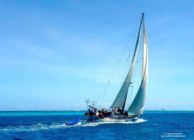 vacanza in barca a vela in navigazione