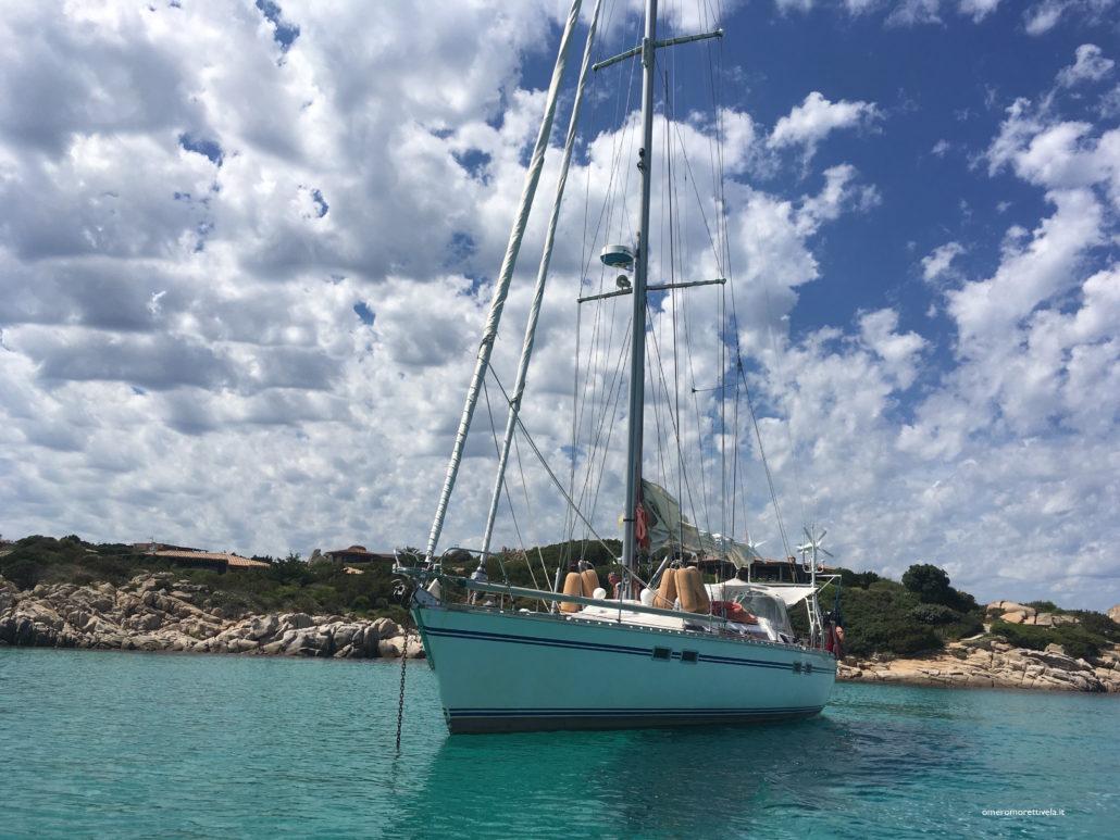 Freya barca a vela in corsica navigazione dalla Toscana alla Sardegna