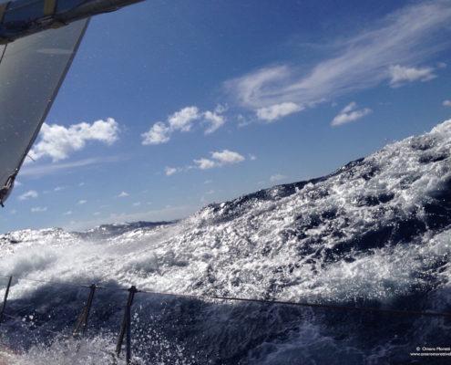 traversata atlantica ovest-est bolina in oceano