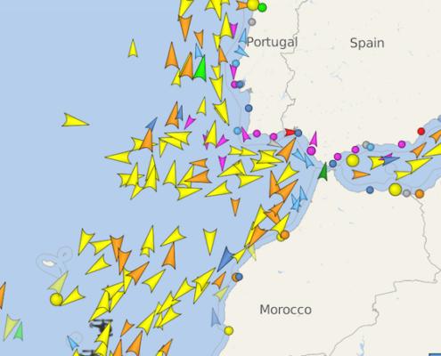 traffico di gibilterra vessel finder