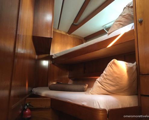 Freya barca a vela interni - Cabina di prua singola