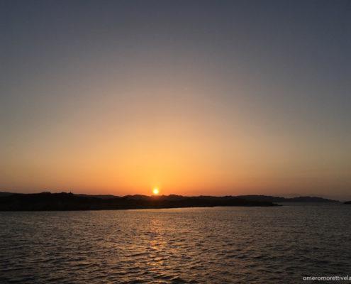 settimana a vela in Sardegna tramonto
