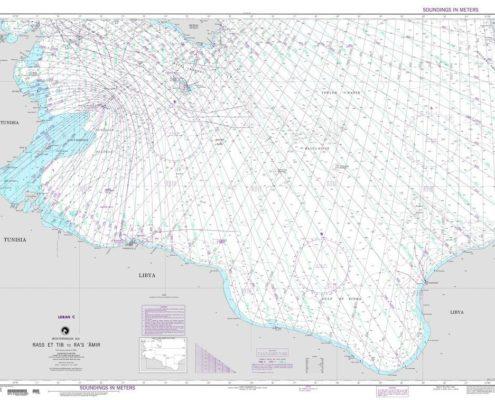 carta nautica loran mediterraneo sud