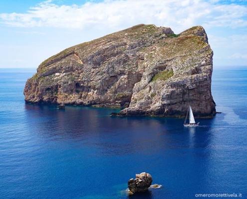itinerario a vela da Palau ad Alghero Foradada