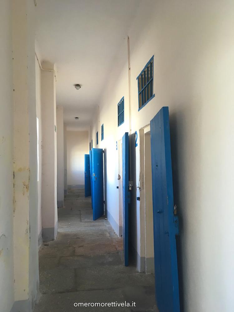 itinerario a vela da Palau ad Alghero carcere interno
