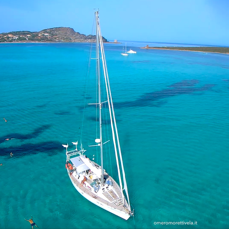 itinerario a vela da Palau ad Alghero la Pelosa