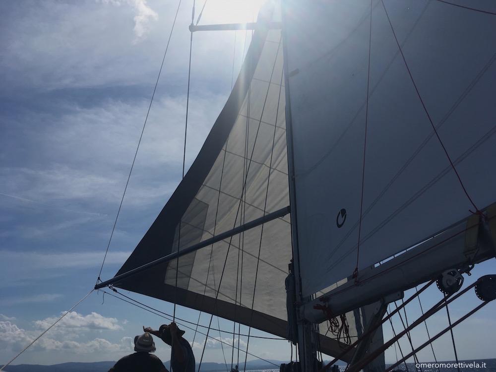 itinerario a vela da Palau ad Alghero vele a farfalla