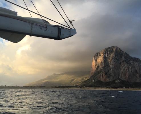 scuola vela in Mediterraneo capo san vito a vela