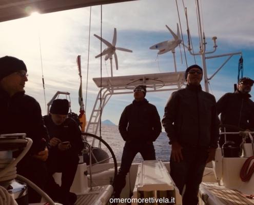scuola vela in Mediterraneo equipaggio