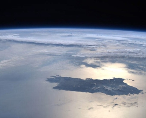 nave spaziale atlantico sardegna dallo spazio