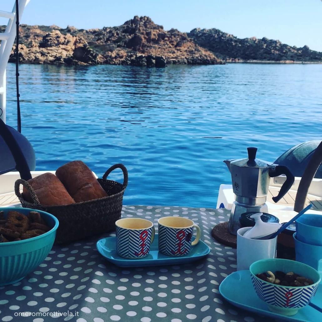 colazione a bordo barca a vela