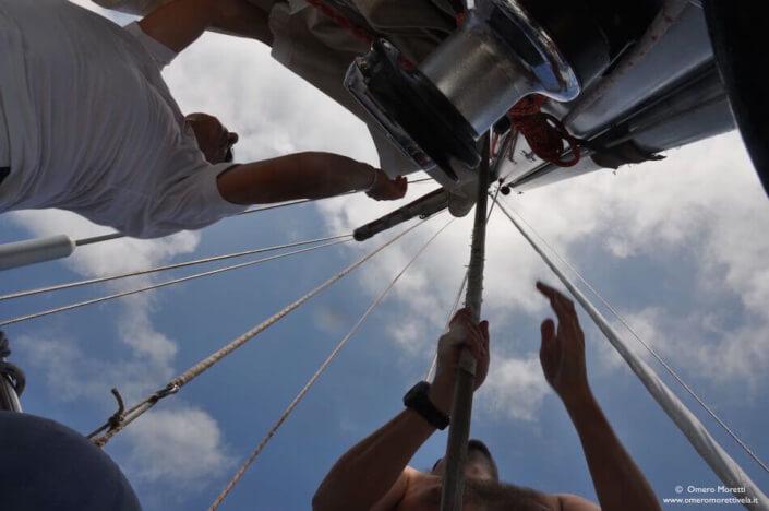 vacanza in barca a vela manovre